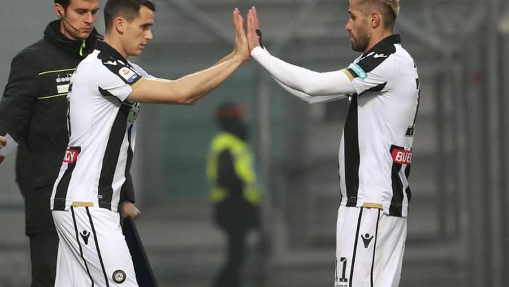 Valon Behrami (rechts) wird in Udine wieder von Igor Tudor trainiert