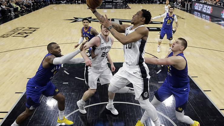 DeMar DeRozan und die San Antonio Spurs erzwangen gegen die Denver Nuggets ein entscheidendes 7. Spiel