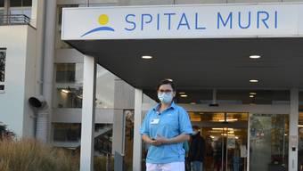 Pflegefachfrau Sibylle Gauch ist derzeit in der Covid-Station des Spitals Muri im Einsatz.