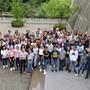 Die 98 Schülerinnen und Schüler der Sek P, die am Montag ihren ersten Schultag an der Kantonsschule Olten erlebten.