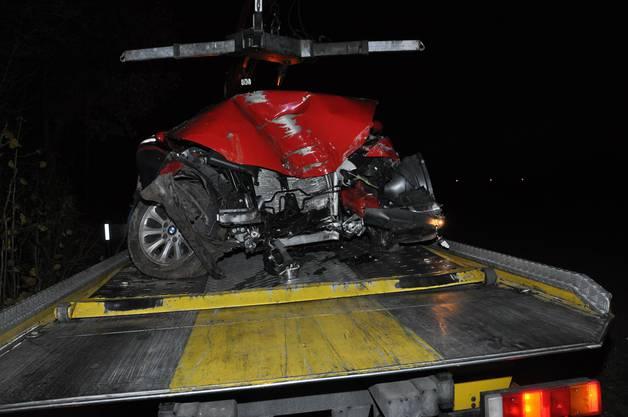 Das Auto erlitt Totalschaden