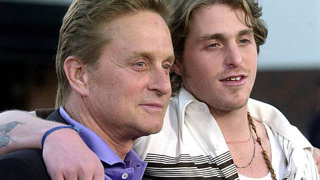 Michael Douglas (l.) mit Sohn Cameron (Archiv)