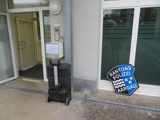 Die Tafel ist abmontiert - ab sofort ist der Kapo-Posten in Wohlen geschlossen.