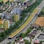 Auf der Halbüberdeckung der A2 in Strengelbach soll eine Photovoltaikanlage entstehen. Ran/Archiv