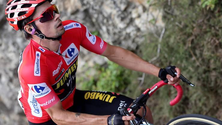Fährt seinem ersten Grand-Tour-Gesamtsieg entgegen: Der Slowene Primoz Roglic führt die Gesamtwertung der Vuelta nach 16 von 21 Etappen weiter souverän an
