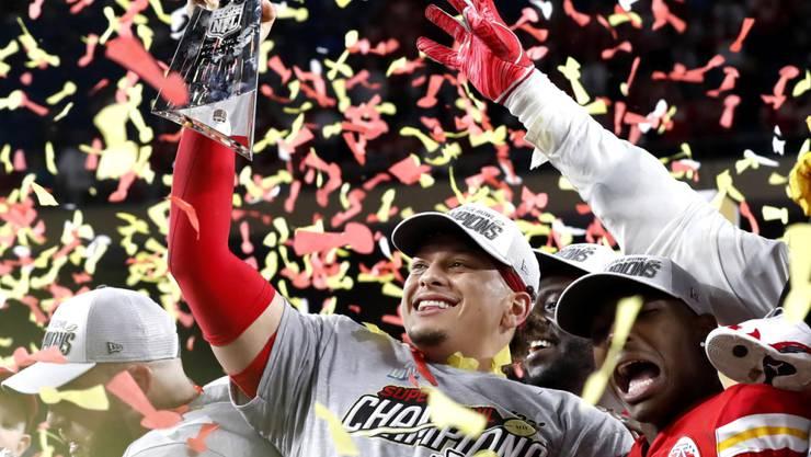 Fast 100 Millionen sahen in den USA den Sieg von Patrick Mahomes und den Kansas City Chiefs in der Super Bowl