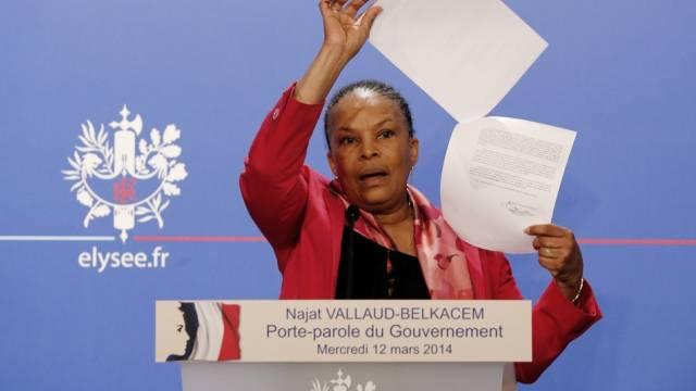 Frankreichs Justizministerin Christiane Taubira