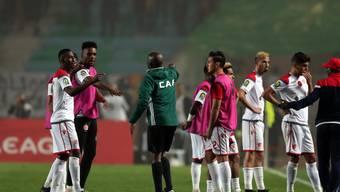 Endlose Diskussionen führten im Final-Rückspiel der afrikanischen Champions League zu einer 90 Minuten langen Unterbrechung