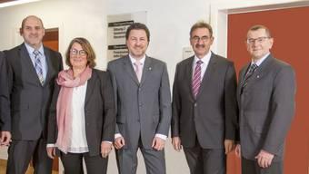 Bernhard Meier (CVP), Regula Schneider Frei (CVP), Patrick Zimmermann (FDP), André Zoppi (FDP), Roland Meier (parteilos).