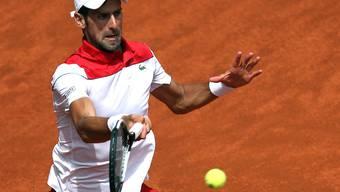 Novak Djokovic liess in Rom zum Auftakt nichts anbrennen