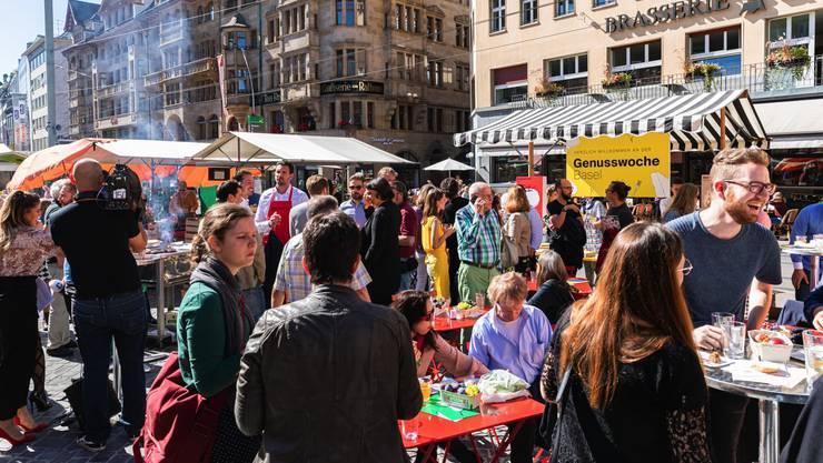 Menschenaufläufe wie zur Eröffnung vor einem Jahr auf dem Marktplatz wird es an der Genusswoche 2020 nicht geben.
