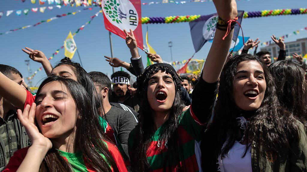 Zehntausende Menschen nahmen am kurdischen Neujahrsfest in Diyarbakir teil.
