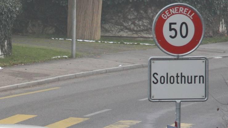 Tempo 50 erhält in Solothurn noch mehr Seltenheitswert.