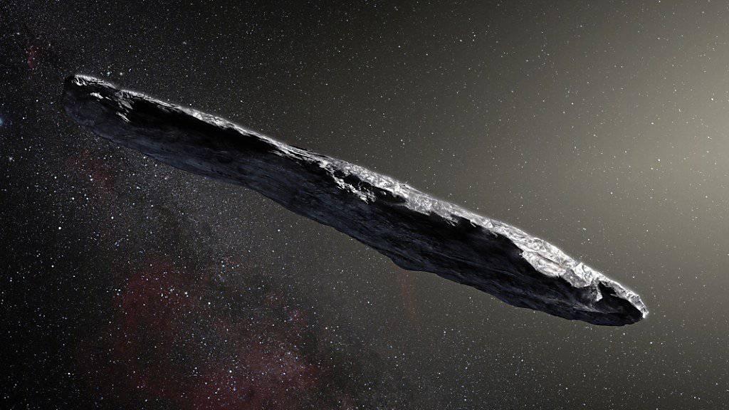 Illustration des Asteroiden Oumuamua (Archiv)