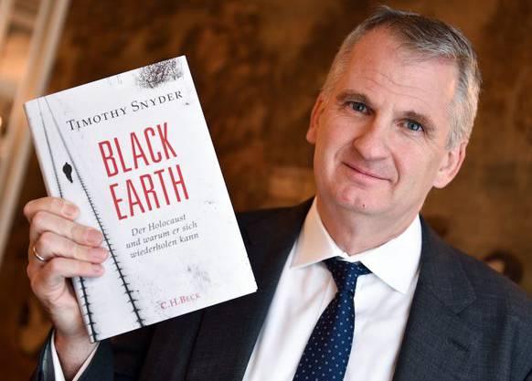 Timothy Snyder bei der Präsentation seines Bestsellers «Black Earth».