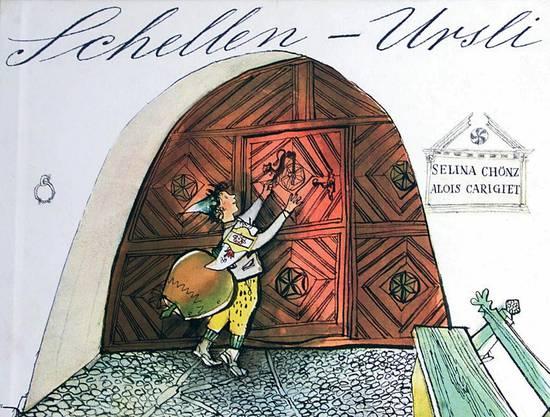 Einband des von Alois Carigiet illustrierten und Selina Choenz getexteten Kinderbuchs 'Schellen-Ursli',
