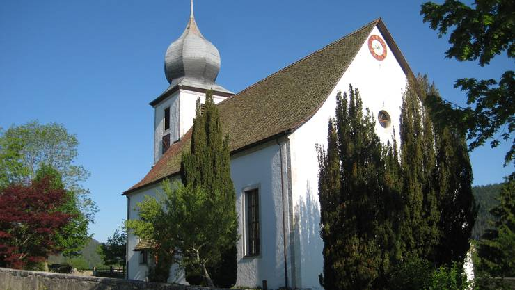 Die Kirche von Sornetan