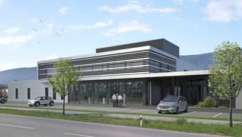 Visualisierung des Neubauprojektes von Thommen Medical Grenchen
