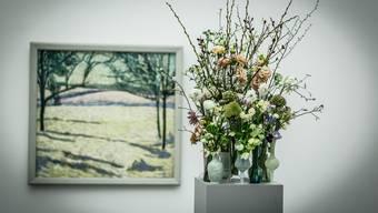 Das Aargauer Kunsthaus lässt Floristen Kunst interpretieren
