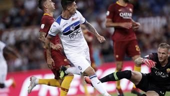 Emiliano Rigoni (im weissen Dress) gelangen bei seinem Debüt mit Atalanta Bergamo gleich zwei Tore