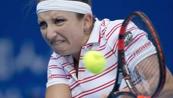 Timea Bacsinszky (Bild) gab gegen Carla Suarez Navarro alles