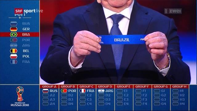 WM 2018: Die Schweiz trifft auf Brasilien!