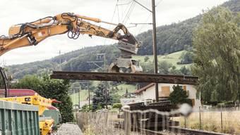 Die Sanierungsarbeiten an der WSB-Linie in Zetzwil haben begonnen.