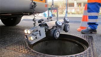 Ähnelt einem bissigen Hund: Der TV-Roboter des Basler Tiefbauamts.