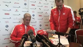 Nationaltrainer Vladimir Petkovic sprach am Montag ein erstes Mal vor der Presse.