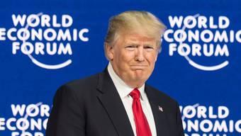 Donald Trump, im Januar 2018 am WEF.