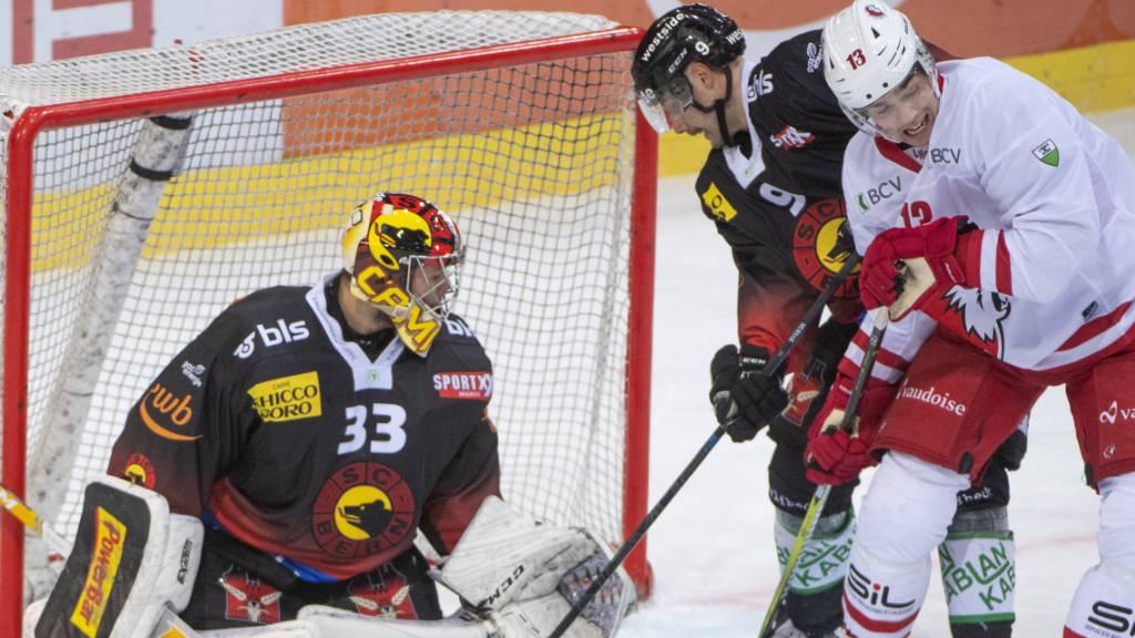 Berns Goalie Pascal Caminada hat in diesen Wochen mehr zu tun, als ihm lieb ist