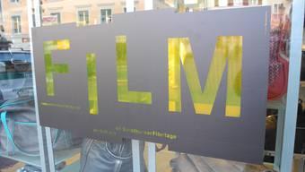 Die Stadt Solothurn hat nur wenig dekorierte Filmtagefenster