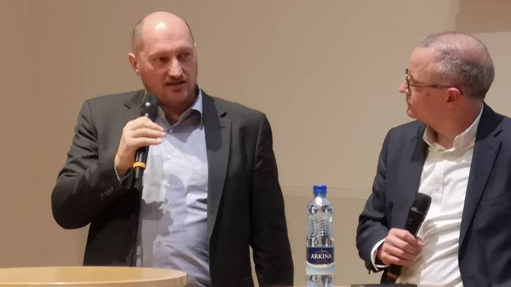 Stadtschreiber Daniel Roth (l.) und Stadtpräsident Hanspeter Hilfiker.