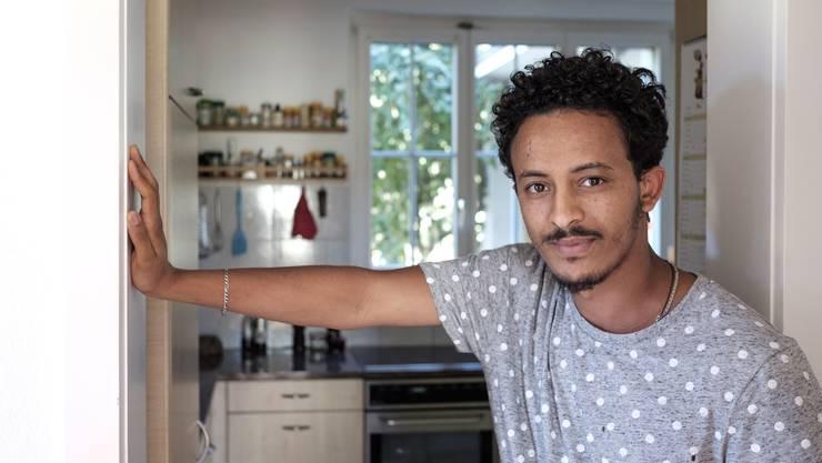 Freut sich über die Schweizer Gastfreundschaft: Samuel, anerkannter Flüchtling aus Eritrea.