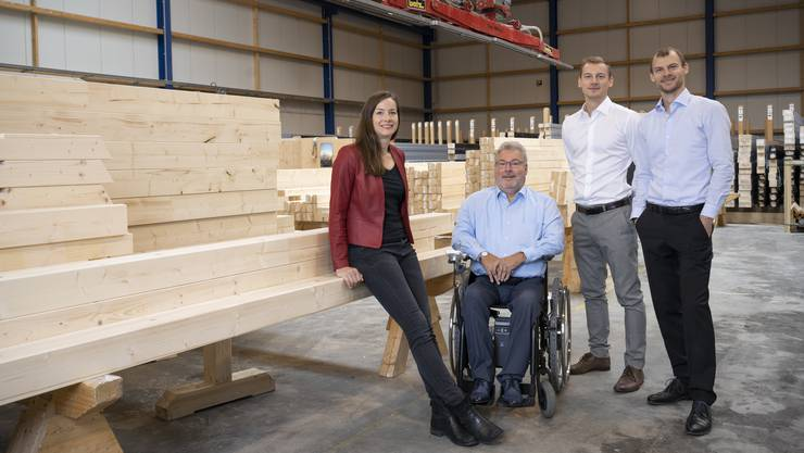 Erfolgreiches Familienunternehmen: Corinne Kuratle, Patron George Kuratle, Fabian und Roger Kuratle.