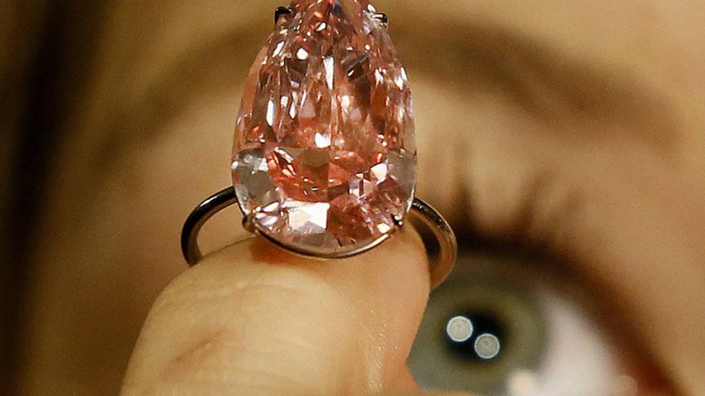 Wird im Mai in Genf versteigert: Das 15,38 Karat schwere Juwel «Unique Pink»