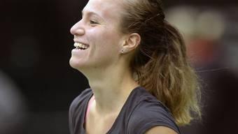 Die Zürcherin Viktorija Golubic hat Grund zur Freude