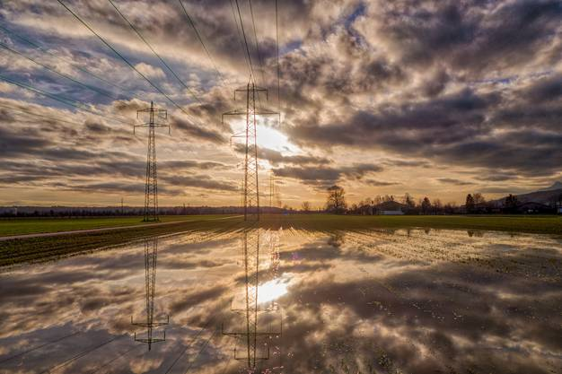 Wasser auf den Feldern von Oensingen am 23.01.18.