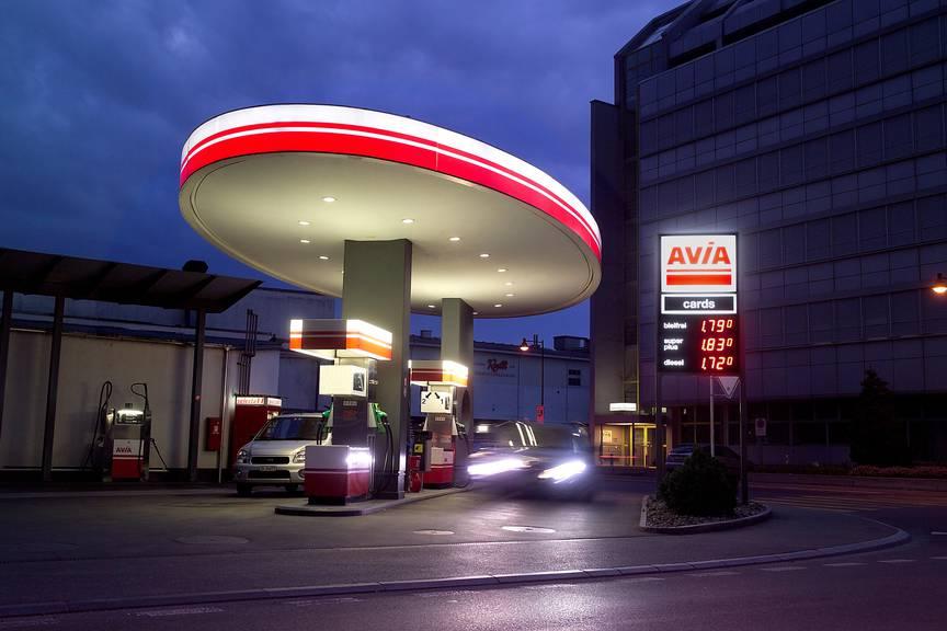 Die AVIA-Schätzle-Tankstelle in Luzern.
