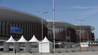 Welch Luxus: Eine Unterkunft mit Blick aus Olympiazentrum.