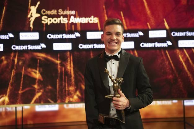 Théo Gmür erhielt den Preis als Behindertensportler des Jahres 2018 .