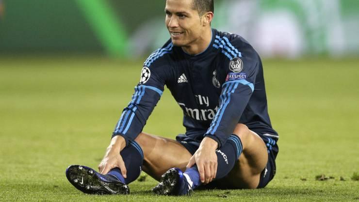 Schlägt sich mit Oberschenkelproblemen herum: Reals Starstürmer Cristiano Ronaldo