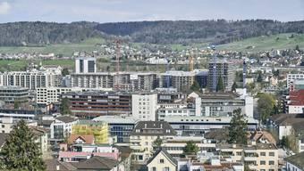 Im Limmattal ist die Bautätigkeit gross. Der Blick über Schlieren verrät, dass die Stadt vor grossen Veränderungen steht.