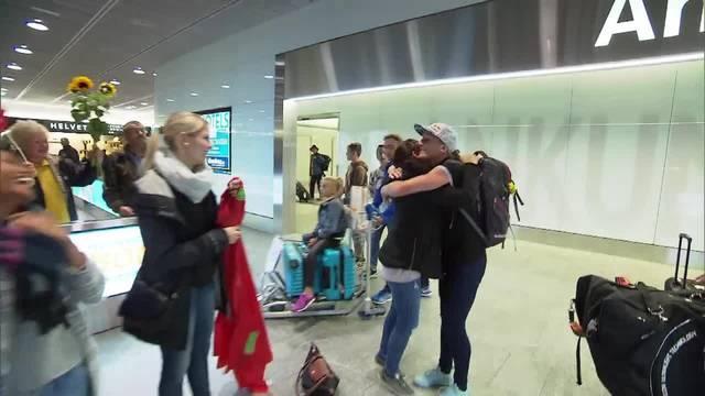 Daniela Ryf landet am Freitagmorgen am Flughafen Kloten.