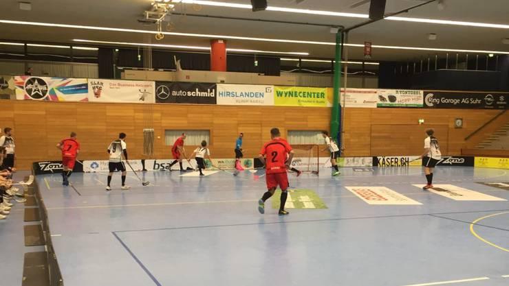 Das Team Aarau feierte gegen Unihockey Langenthal Aarwangen II den zweiten deutlichen Heimsieg innert Wochenfrist