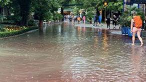 Viel Regen im Europapark