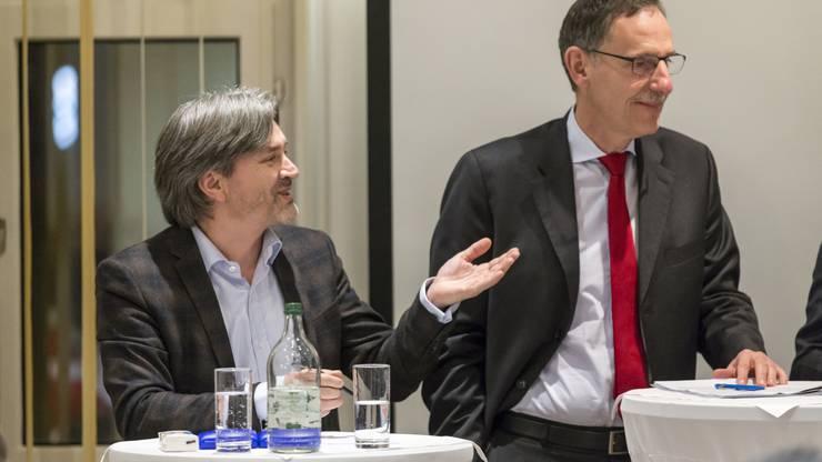 Der Schlieremer Stadtpräsident Markus Bärtschiger (SP) befragte im Kreuzverhör den SVP-Regierungsrat...