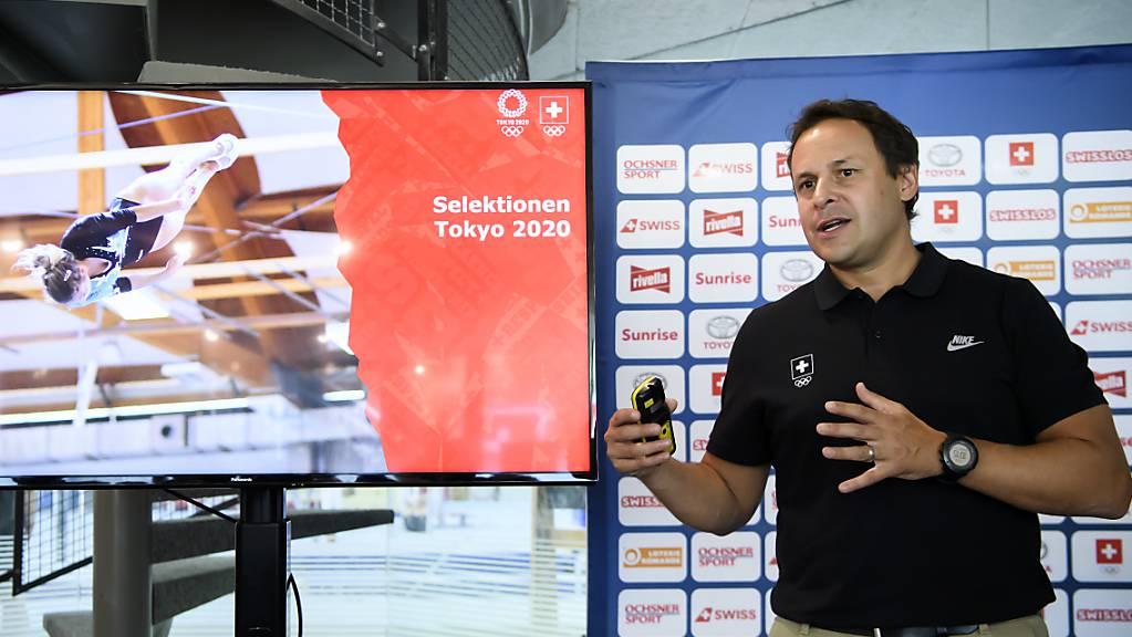 Ralph Stöckli, Chef de Mission von Swiss Olympic, im August 2019 anlässlich einer Medienkonferenz zu den Sommerspielen in Tokio