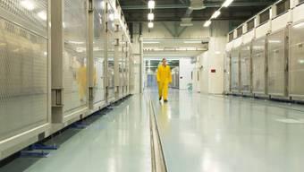 Eine Aufnahme aus dem Innern der iranischen Atomanlage Fordo.