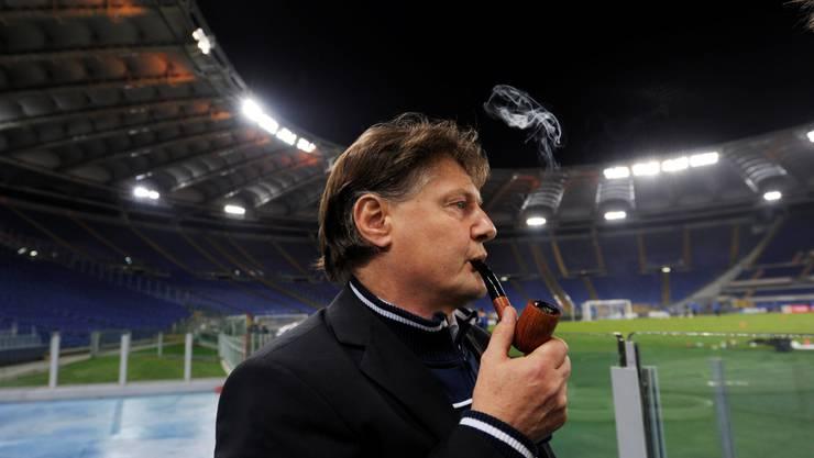 FCZ-Präsident Ancillo Canepa träumt im Stadio Olimpico vom grossen Coup. Steffen Schmidt/Keystone